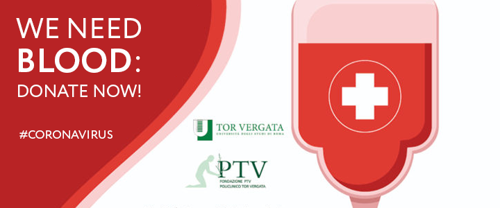We need blood: donate now!